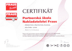 Jsme partnerská škola nakladatelství FRAUS